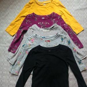 OLD NAVY - 18mo -24mo girl Long Sleeve Fall Shirts